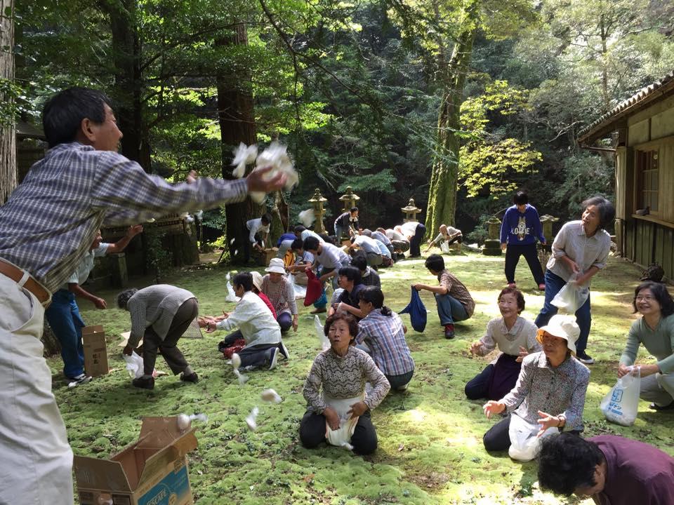 五穀豊穣を祈って、色川神社宮祭り